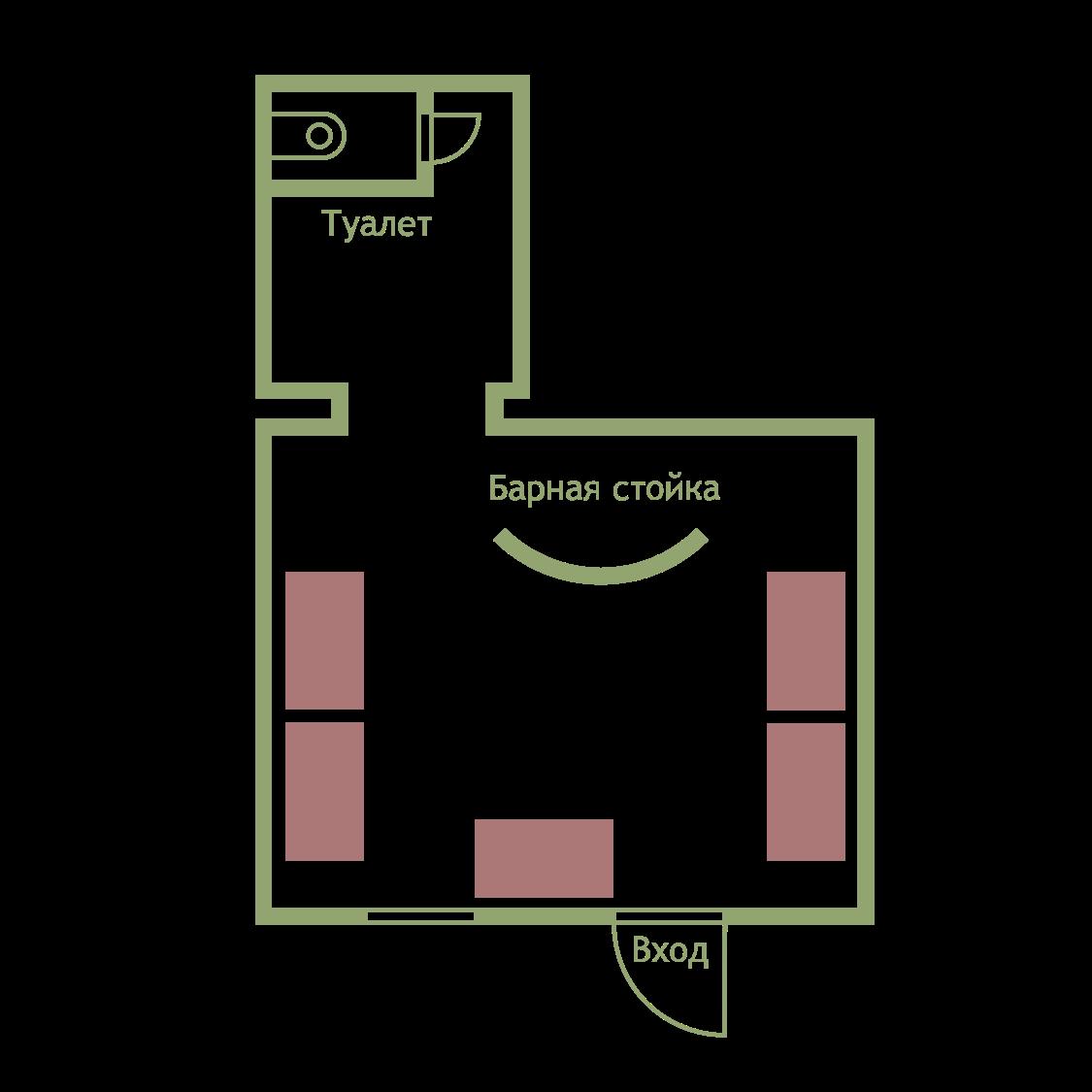 План рассадки гостей, до 45 человек